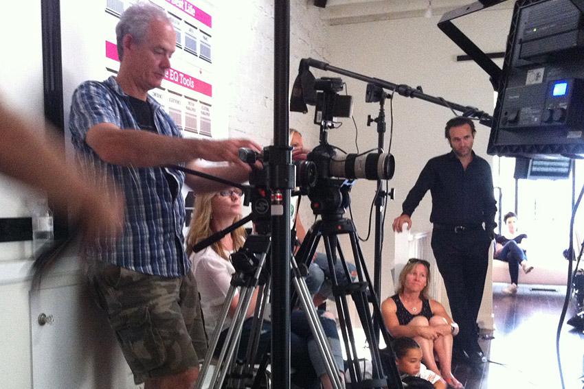 Directing girls in anti-bullying video, Toronto
