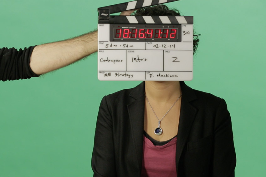 Green screen shoot, corporate video