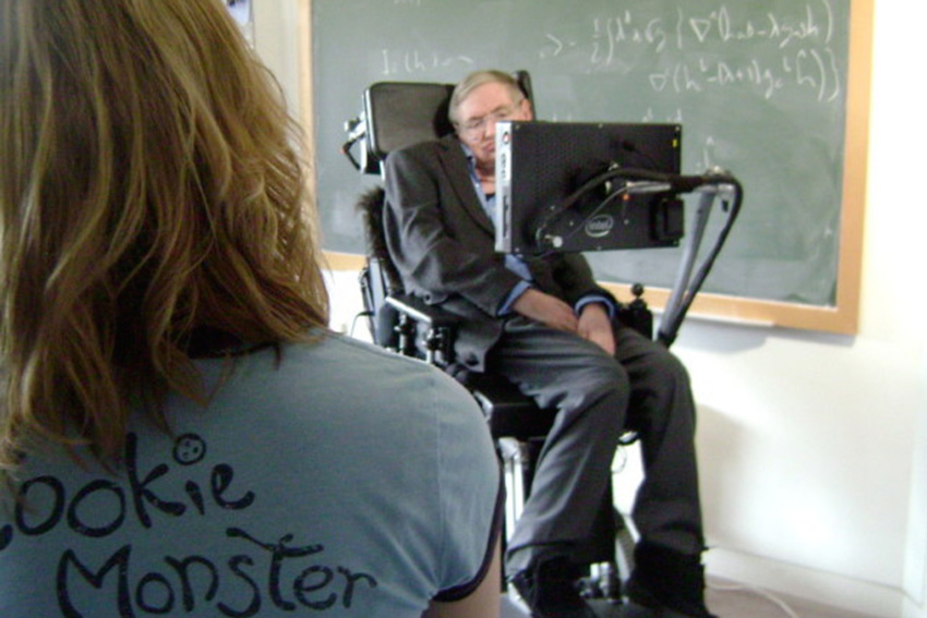 Steven Hawking and Frances MacKinnon
